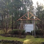 The folley roof goes in 150x150 Tesss Winter Gardening Tips