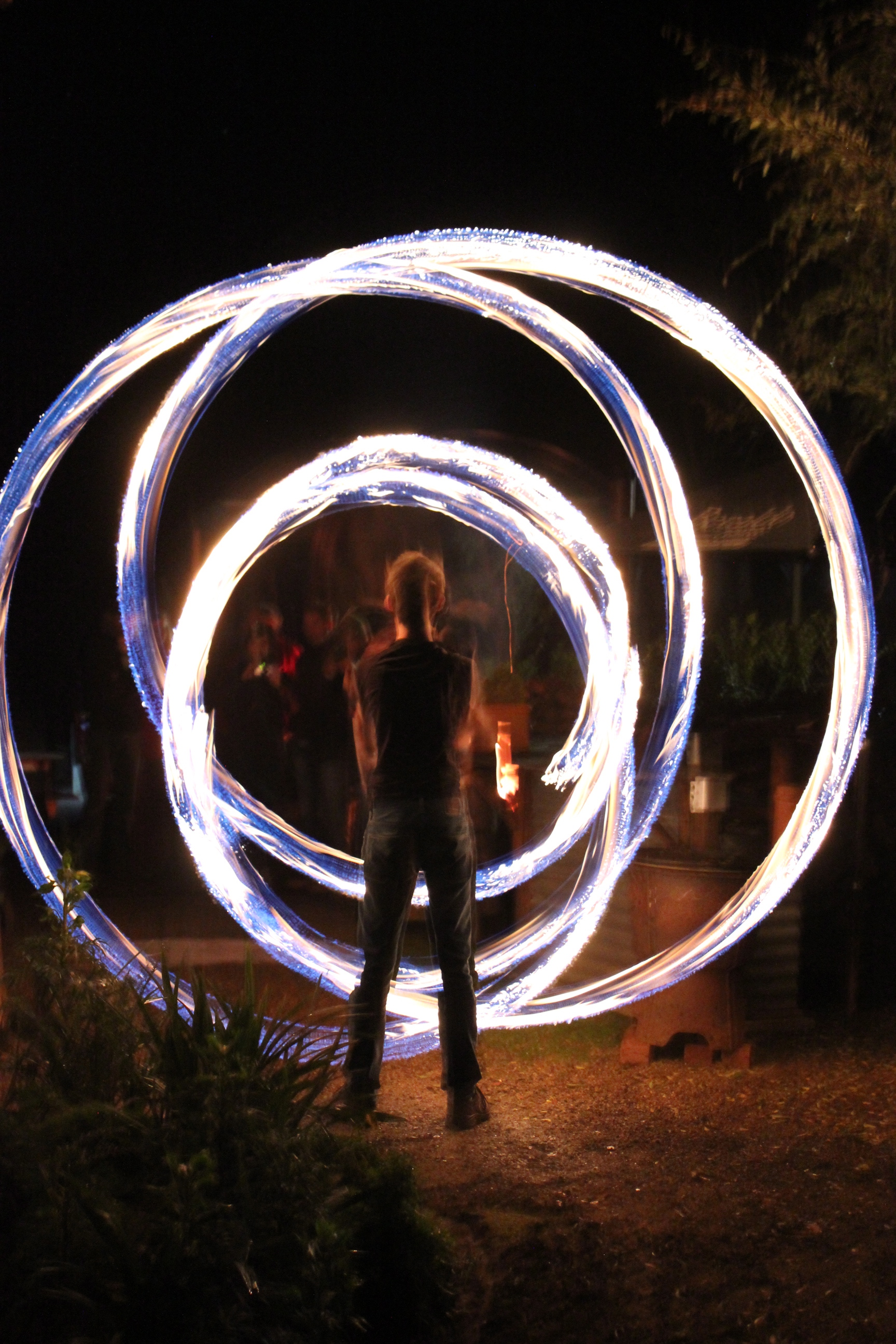 Firetwirling at Payne's Hut