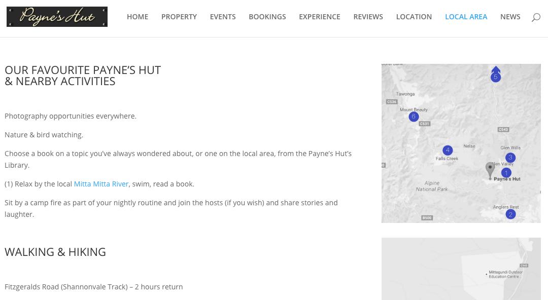 New Payne's Hut website